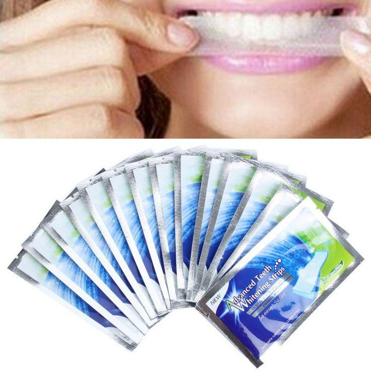 14 Pairs Teeth Whitening Strips Gel Care Oral Hygiene Clareador Dental Bleaching Tooth Whitening Bleach Teeth Whiten Tools
