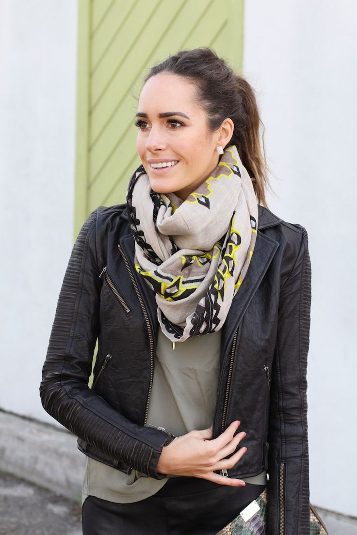 "All Saints Leather Jacket | ""My All-Weather Must-Have: The Pencil Skirt"" 