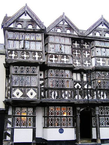 Feathers Inn, Ludlow, Shropshire, England, UK - c. 13th century.
