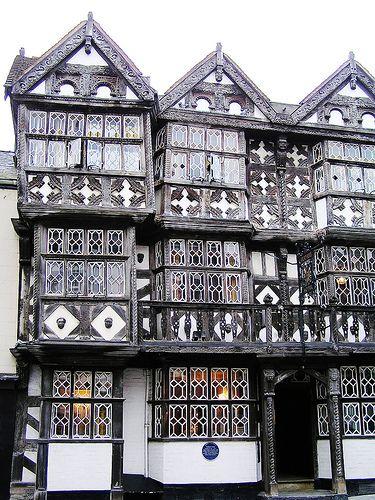 Feathers Inn, Ludlow, Shropshire, England, UK - c. 13th century.