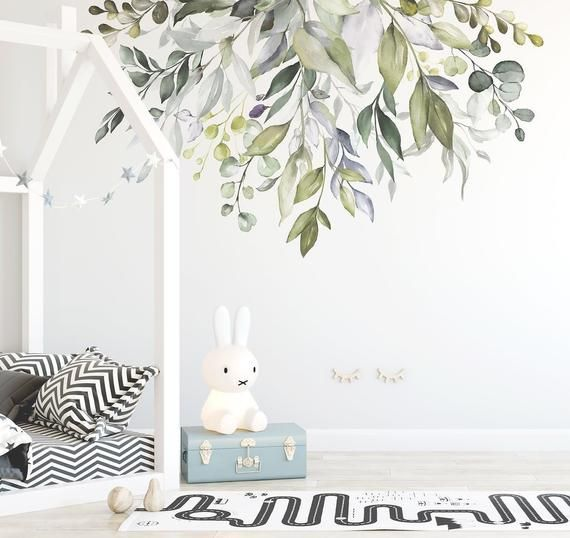 Native Garden Wall Decal Nursery Wall Decals Contemporary Wall