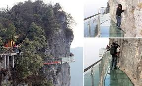 Walk of Faith, China. *walk by faith not by sight* -would love to experience this, although i might be on all fours and shaking..lol