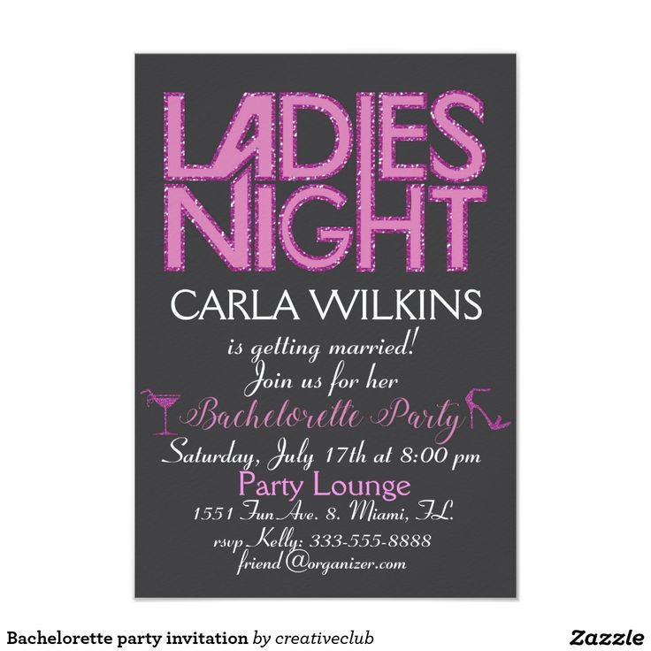 14 best Bachelorette Party invitations images on Pinterest ...