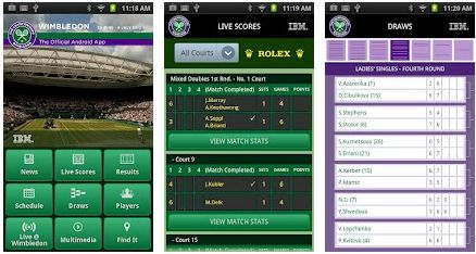 Official Wimbledon App for iPhone & Android to get Live Sores, Results, Schedule, Videos etc..