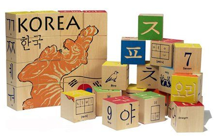 $35.95 Uncle Goose Korean Character Blocks by Uncle Goose. The Korean character block set includes 22 animals and the numbers 1-10 in English and Korean with a word construction grid. Weve also included all of the Korean consonants and vowels. MADE in Grand Rapids, Michigan USA! 32 - 44mm cubes