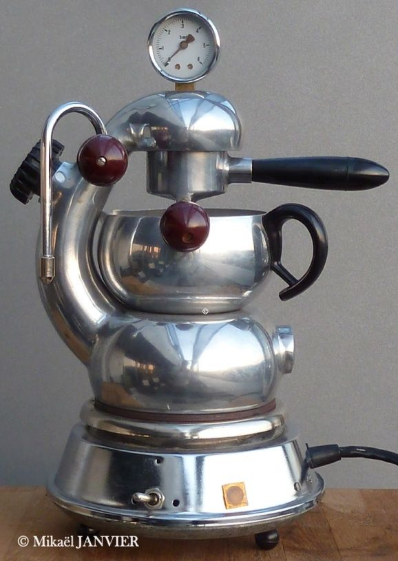 retro atomic coffee machine