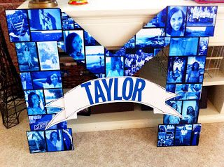 Great idea for a graduation party to display your photos :)