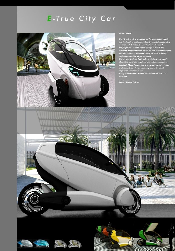 E True Vehicle Is Perfect For Young And Stylish People. The Objective  Behind This Design Was To Develop A Lightweight And Compact One Person  Electric ...