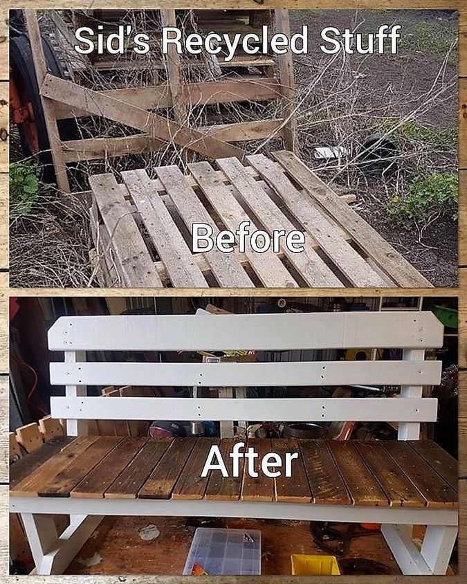 Tremendous Diy Pallet Wooden Bench Made By Sids Recycled Stuff Dailytribune Chair Design For Home Dailytribuneorg
