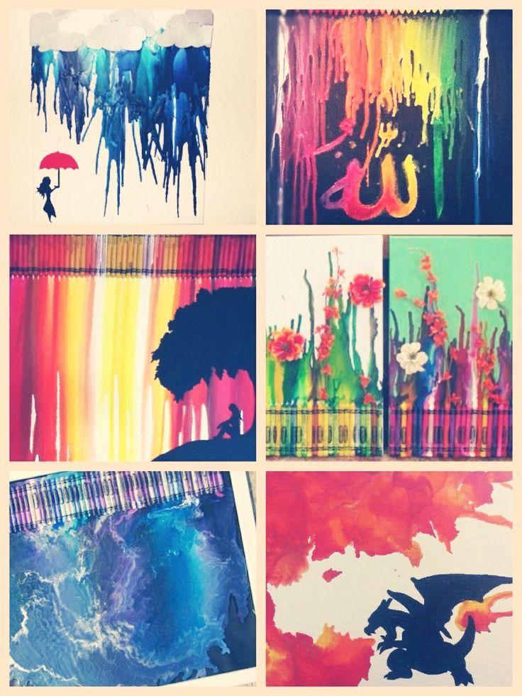 Melting Crayon Art Ideas