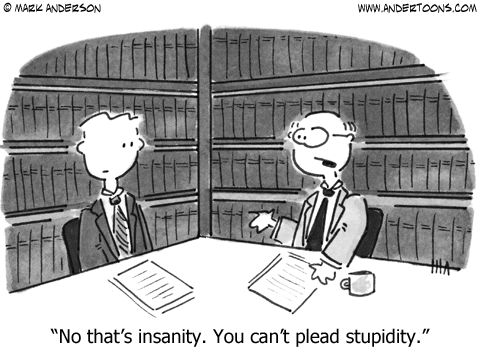 You can't plead stupidity.  This is a spoiler alert to some people that I see in court.