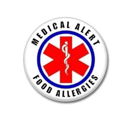 Food Allergies Medical Alert Button   #medical #alert #buttons #badges #patches #allergies #food