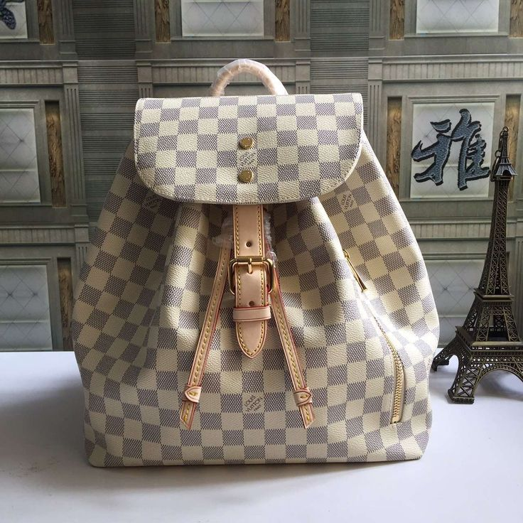 LV  Sperone Damier Azur cavas travel backpack N41578 size:31X30X20CM G4 whatsapp:+8615503787453