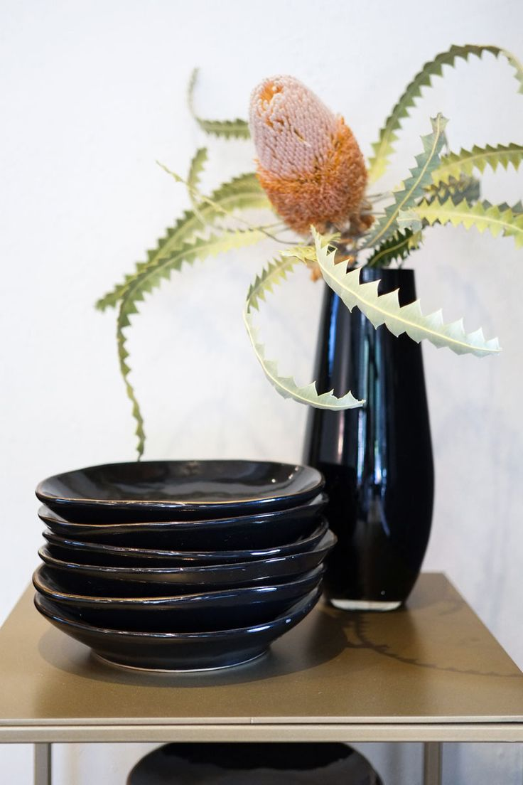 Hand crafted locally made ceramics available at our showroom