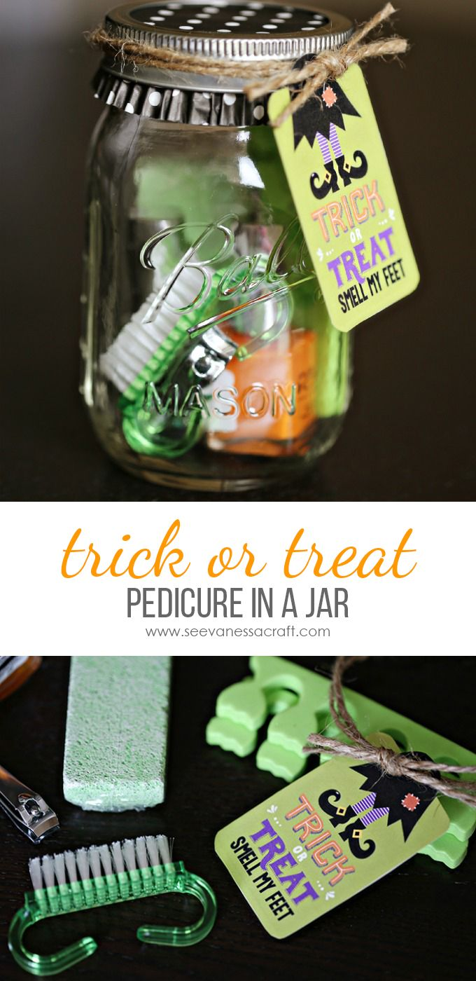 "Halloween ""Smell My Feet"" Pedicure Jar Gift Idea"