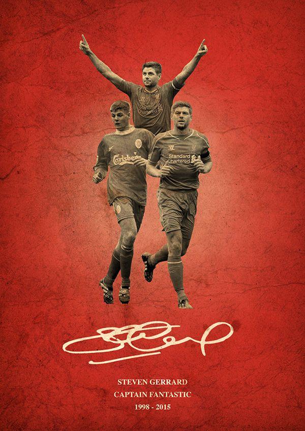 Steven Gerrard Liverpool Poster