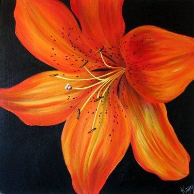 Beautiful tiger lily painting