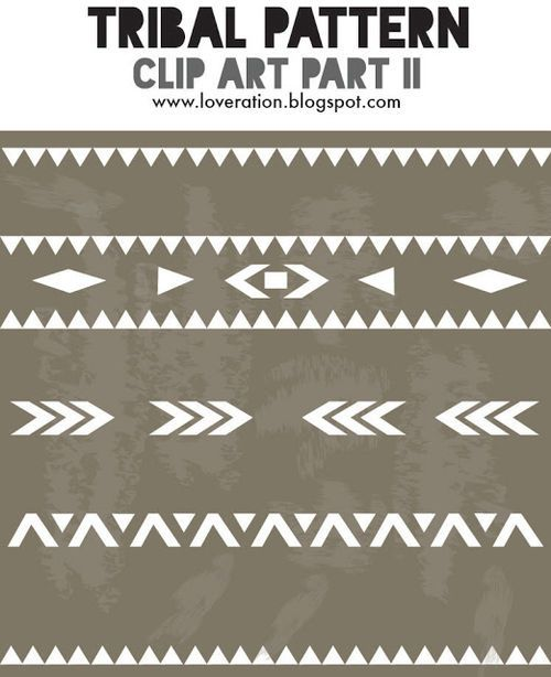 Tribal pattern clipart part 2