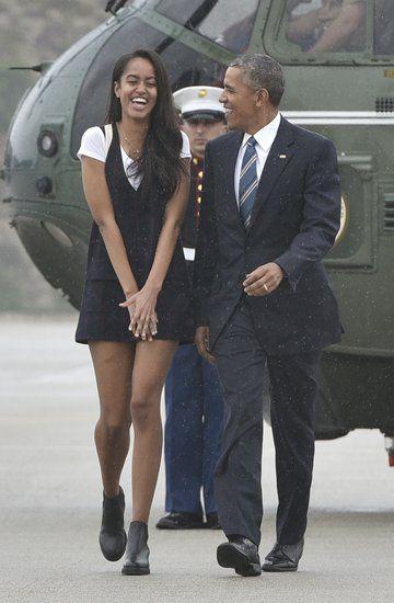 Malia and Barack Obama Continue Their Adorable Father-Daughter Bonding Trip