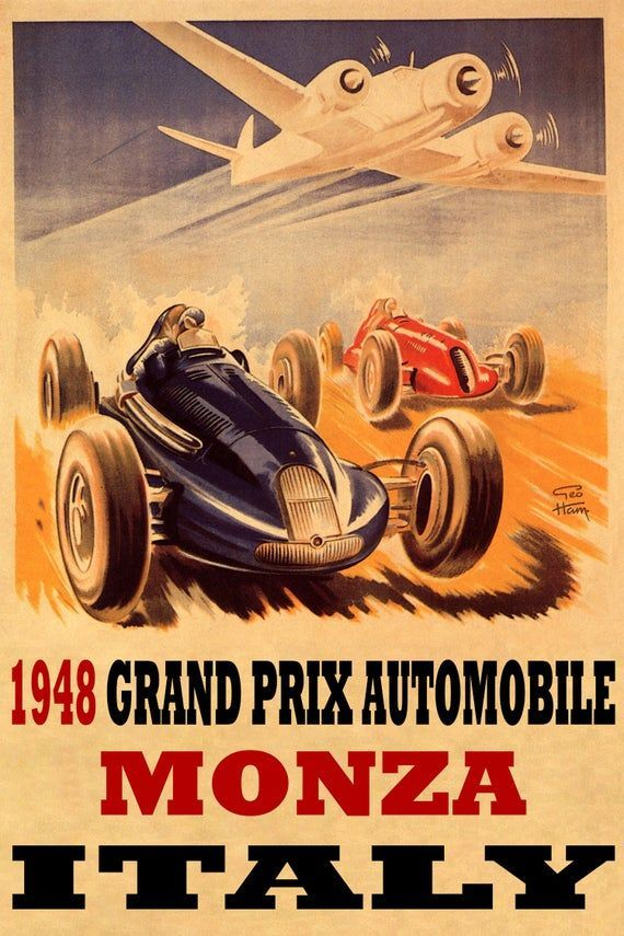 Monaco Grand Prix 1968 Vintage Poster Print Travel Car Racing Free US S//H
