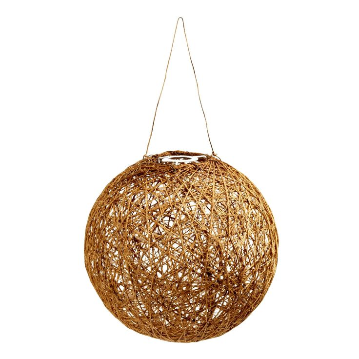 11 5 jute ball hanging pendant lamp christmas tree shops andthat
