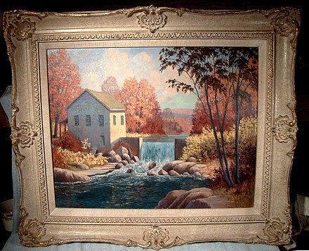 Frank E Cavell Canada 1909-80 Landscape Oil on Board