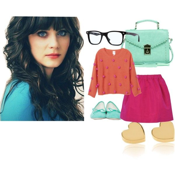 Jess from New Girl, created by nina-vb on Polyvore