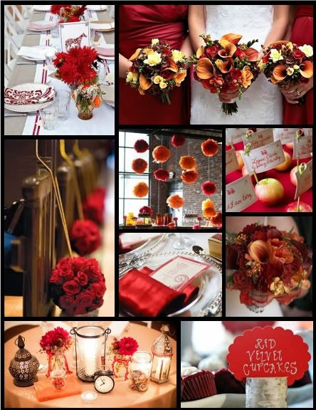 Champagne And Red Wedding Ideas | Inspiring Brides: Inspiration 226: Apple Red