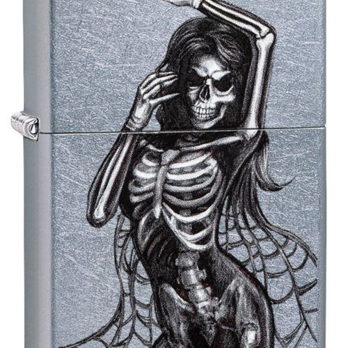 Zippo Skull Lighter Sexy Woman for the smoker or skull lover in your life.