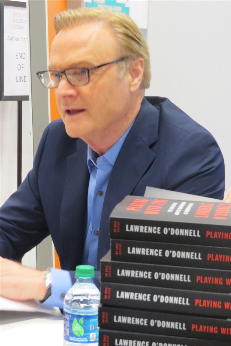 Author Lawrence O'Donnell at BookExpo 2017 in NYC