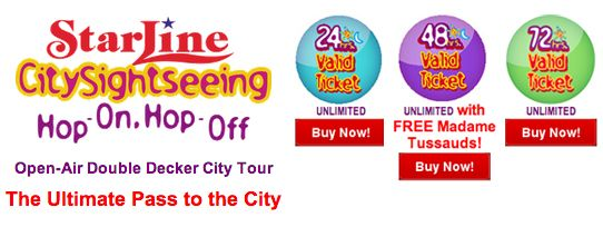 Starline Tours City Sightseeing 24/48/72 hours