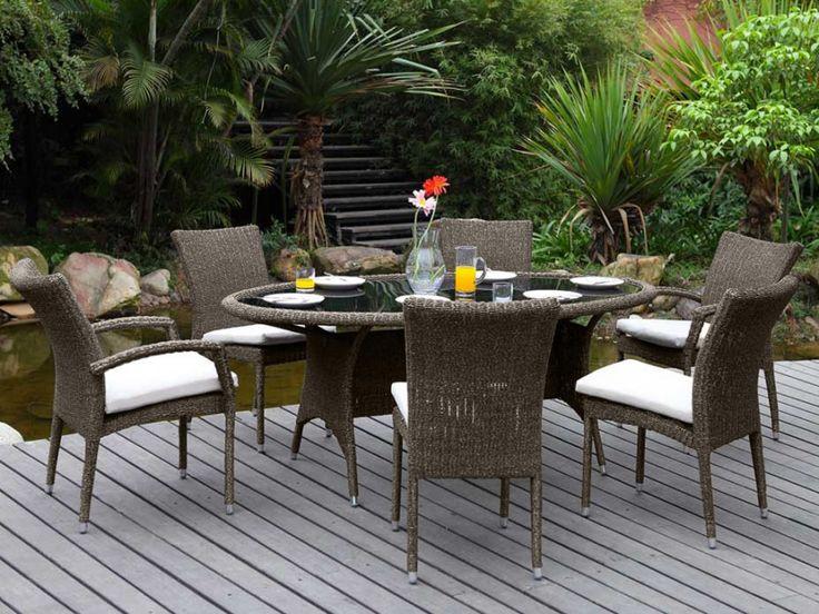 Polyrattan Gartenmöbel Kollektion Whiteheaven - Anthrazit