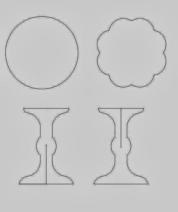 Stand para Cupcakes hecho de Cartón. Tutorial con Plantillas.