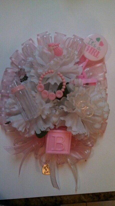 Baby shower corsage | Baby Ideas | Pinterest | Babies and Corsage baby showers