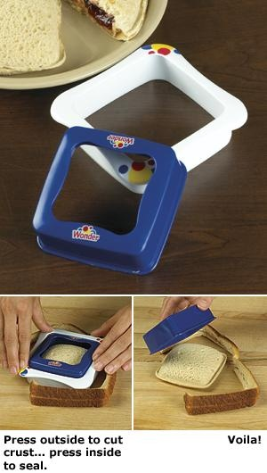 Wonder bread sandwich sealer and crust cutter awesome because i am