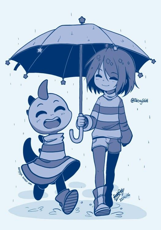 Frisk and Monster Kid | Undertale