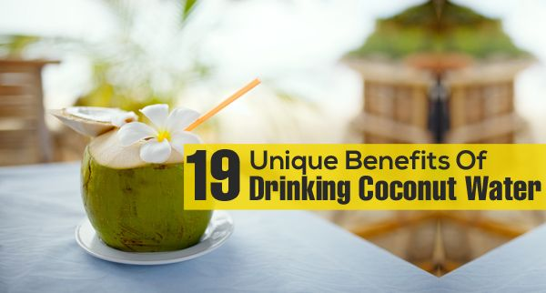 Unique Benefits Of Drinking Coconut Water