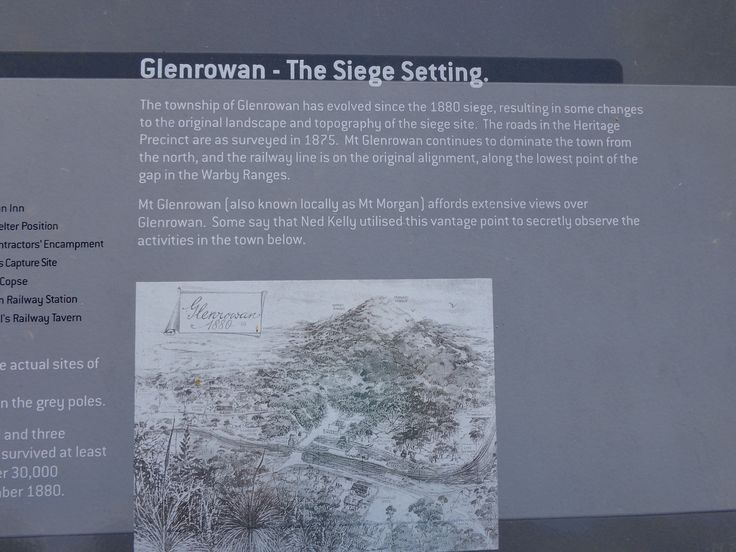 Good sign board about the siege setting