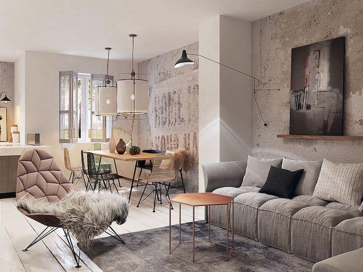 Décoration mur intérieur salon contemporain en 22 idées en styles variés