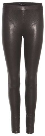 J Brand Mid-rise Leather Leggings