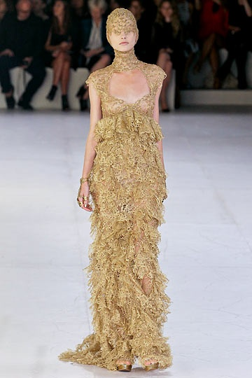 Alexander McQueen s2012, I think this dress is also a great silhouette for a wedding dress.