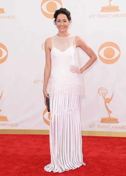 Sandrine Holt in white Honor gown