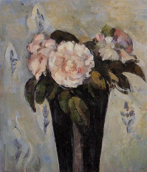 Dark Blue Vase - Cezanne Paul