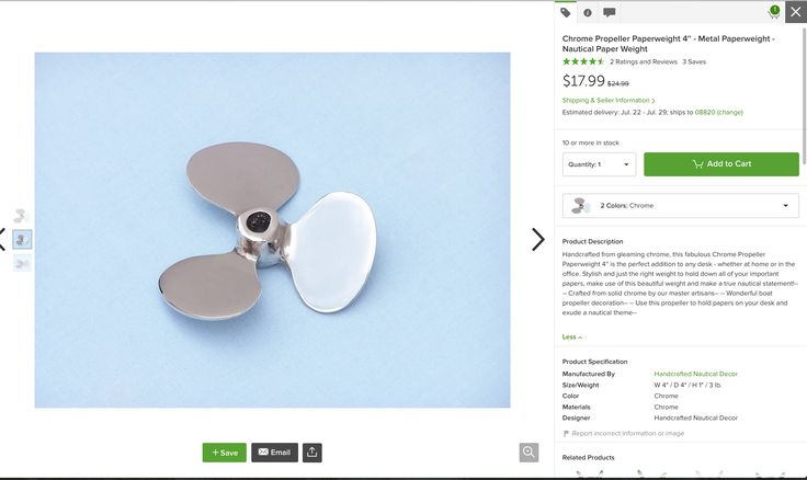 Chrome Propeller Paperweight 4'' - Metal Paperweight - Nautical Paper Weight  https://www.houzz.com/photos/13121411/Chrome-Propeller-Paperweight-4-Metal-Paperweight-Nautical-Paper-Weight-beach-style-decorative-objects-and-figurines