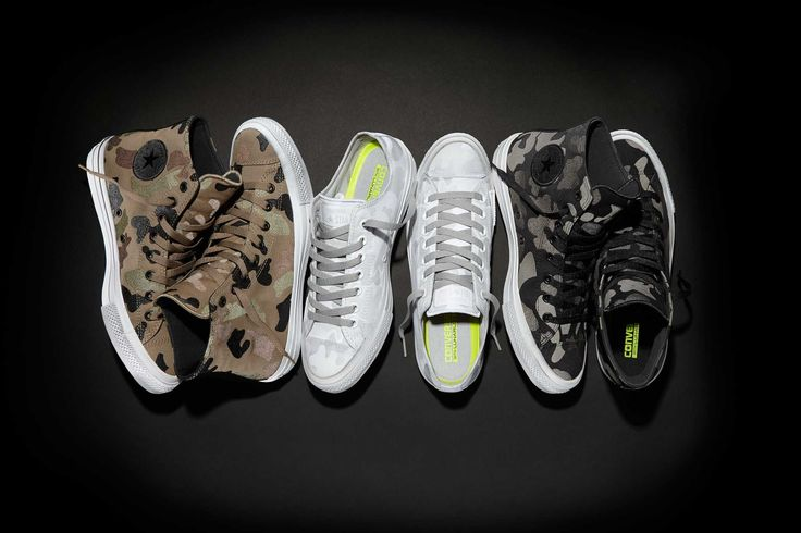 Converse Updates Its Chuck II With Reflective Prints. All-over Camo and Stars designs on tap