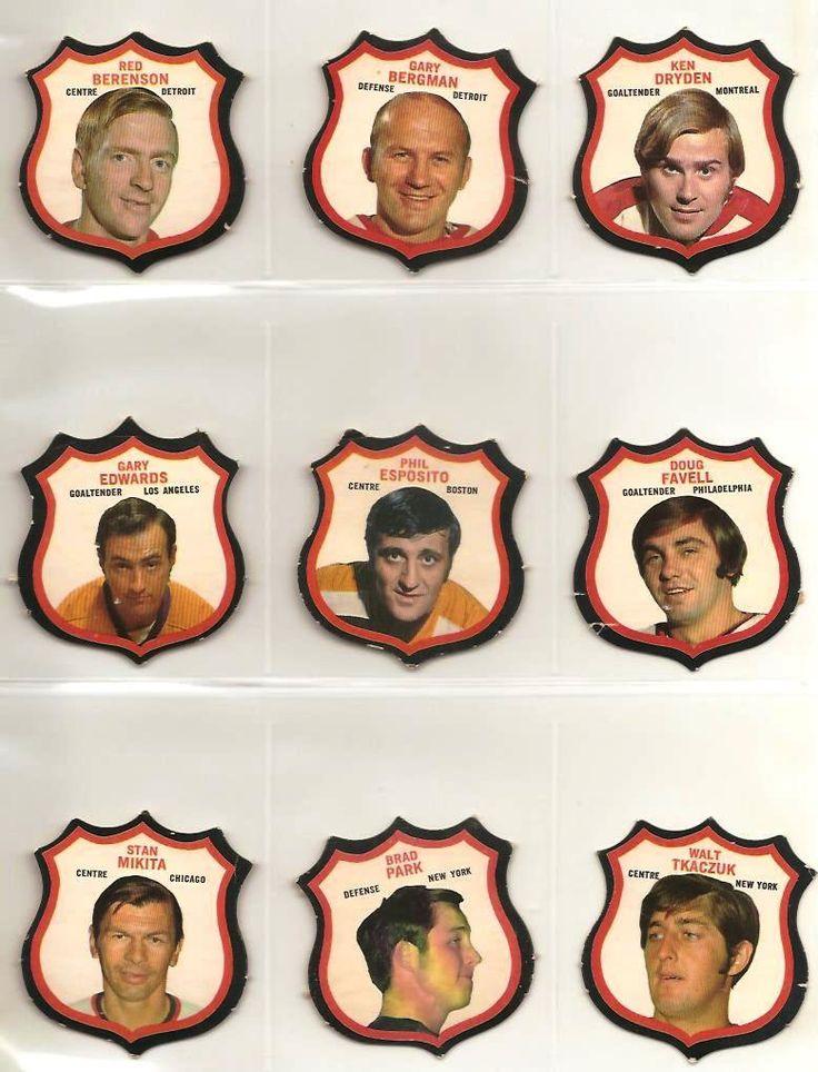 star inserts: Red Berenson, Gary Bergman, Ken Dryden, Gary Edwards, Phil Esposito, Doug Favell, Stan Mikita, Brad Park, Walt Tkaczuk