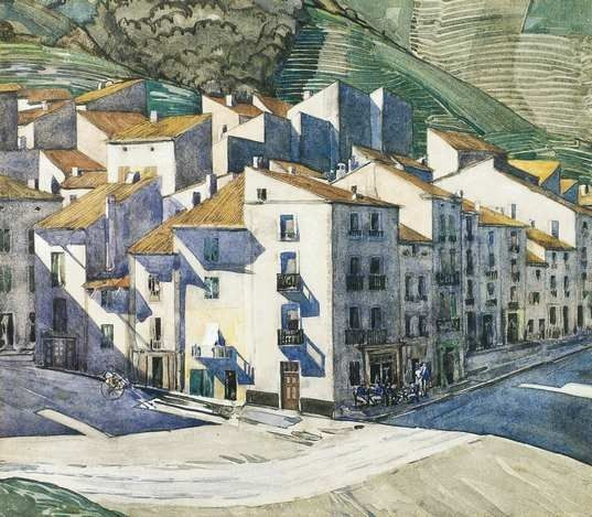 A Hill Town Southern France by Charles Rennie Mackintosh
