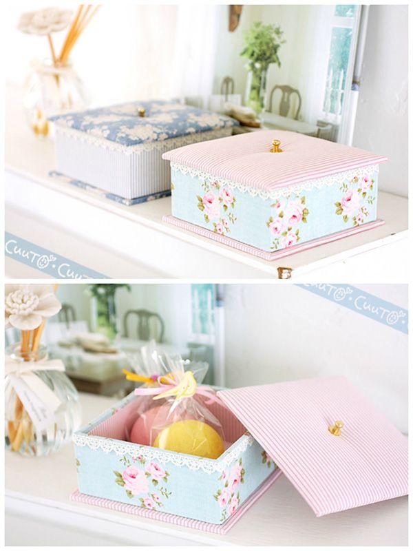 handmade tilda fabric boxes