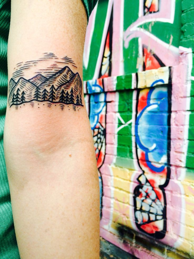 mountain tattoo / asheville North Carolina