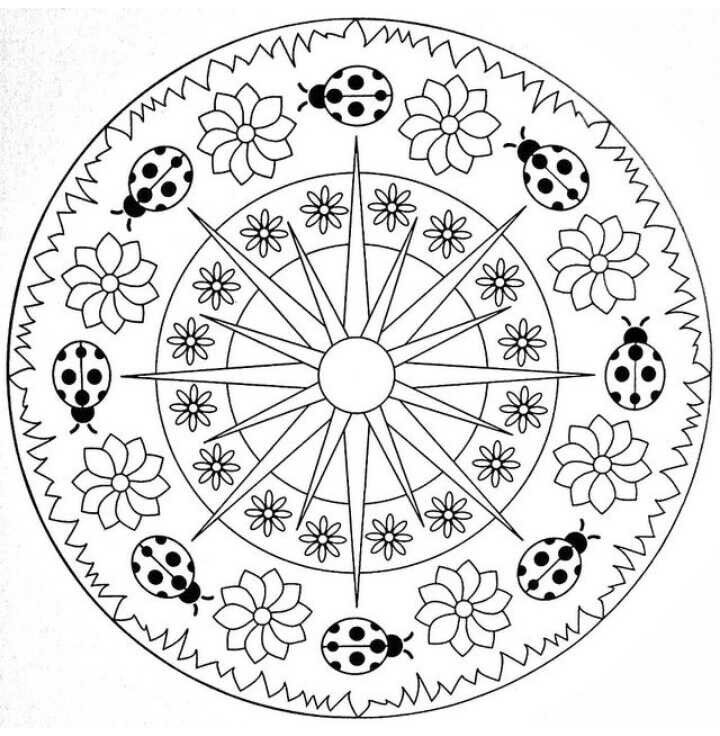 49 best Mandalas images on Pinterest Coloring pages